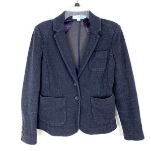 Boden blazer jacket 2 button front patch pockets